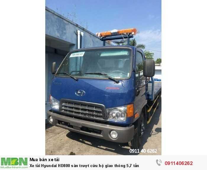 Xe tải Hyundai HD800 sàn trượt cứu hộ giao thông 5,7 tấn 1