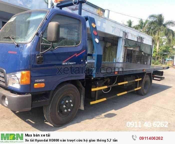 Xe tải Hyundai HD800 sàn trượt cứu hộ giao thông 5,7 tấn 2