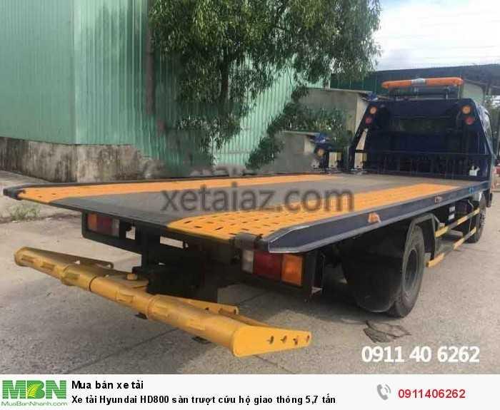 Xe tải Hyundai HD800 sàn trượt cứu hộ giao thông 5,7 tấn 3