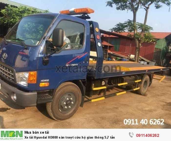 Xe tải Hyundai HD800 sàn trượt cứu hộ giao thông 5,7 tấn 4