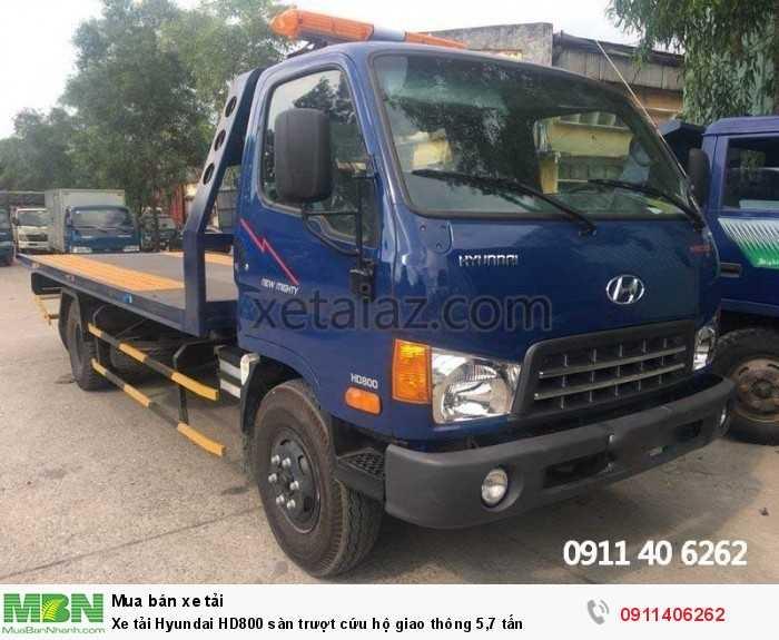 Xe tải Hyundai HD800 sàn trượt cứu hộ giao thông 5,7 tấn 5