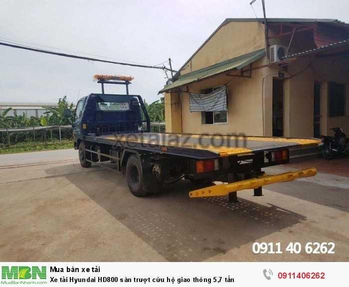 Xe tải Hyundai HD800 sàn trượt cứu hộ giao thông 5,7 tấn 6