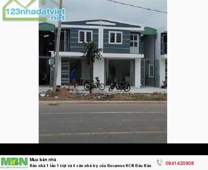 Bán nhà 1 lầu 1 trệt và 4 căn nhà trọ của Becamex KCN Bàu Bàng tỉnh Bình Dương