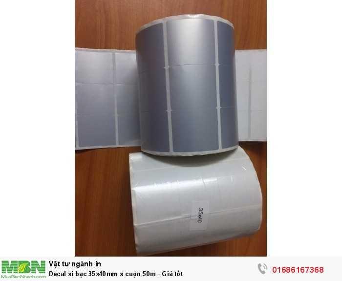 Decal xi bạc 35x40mm x cuộn 50m - Giá tốt1