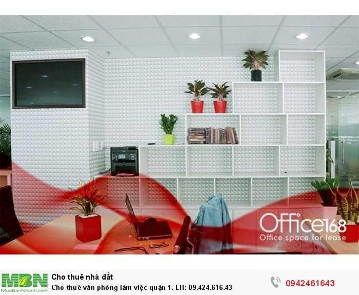 Cho thuê văn phòng làm việc quận 1.