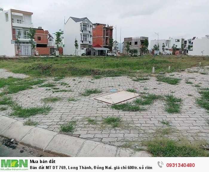 Bán đất MT DT 769, Long Thành, Đồng Nai. Sổ riêng thổ cư cam kết