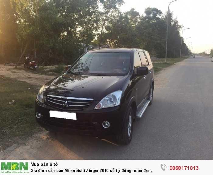 Gia đình cần bán Mitsubishi Zinger 2010 số tự động, màu đen,