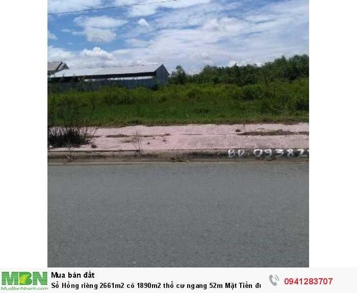 Sổ Hồng riêng 2661m2 có 1890m2 thổ cư ngang 52m Mặt Tiền đường Hồ Văn Tắng
