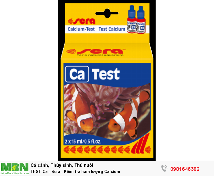 TEST Ca - Sera - Kiểm tra hàm lượng Calcium0