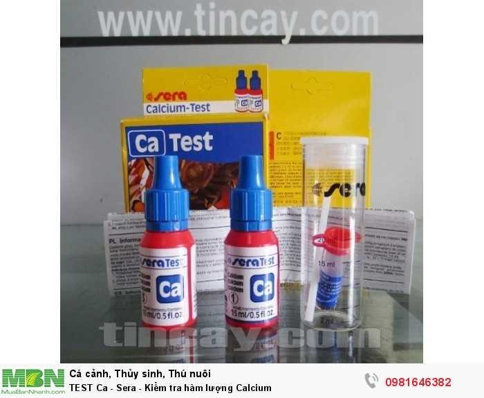 TEST Ca - Sera - Kiểm tra hàm lượng Calcium1