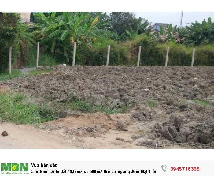 Chú Năm có lô đất 1932m2 có 500m2 thổ cư ngang 36m Mặt Tiền đường Huỳnh Minh Mương,Tân Thạnh Đông