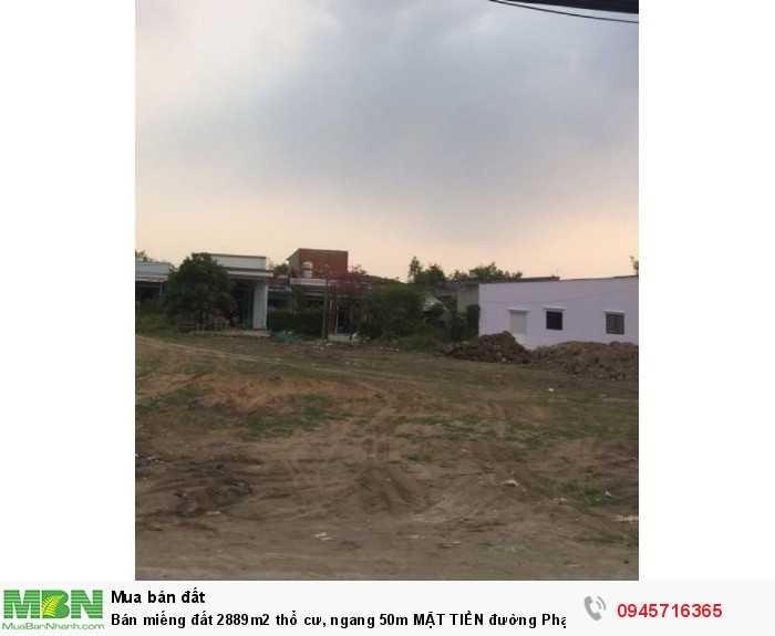 Bán miếng đất 2889m2 thổ cư, ngang 50m MẶT TIỀN đường Phạm Văn Cội, SỔ HỒNG Thím Chung