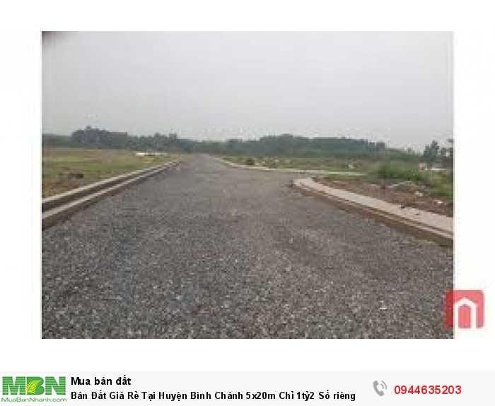 Bán Đất Giá Rẻ Tại Huyện Bình Chánh 5x20m  Sổ riêng