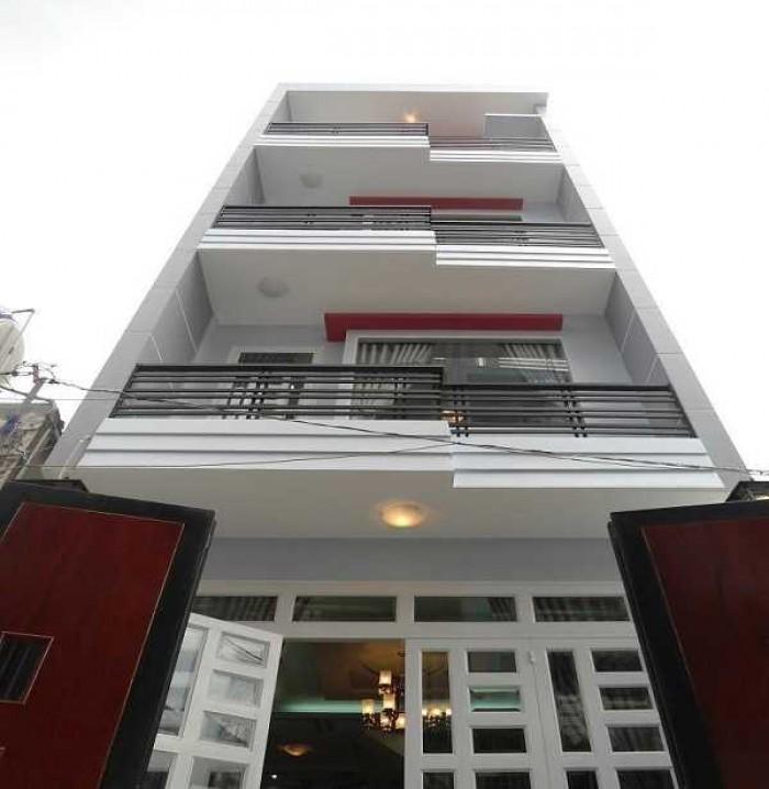 Cần tiền nên tôi để lại căn nhà 100m2, 1 trệt 4 lầu NGANG 7m, Nở Hậu.