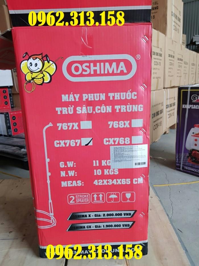 Máy phun thuốc trừ sâu,phun thuốc phòng dịch Oshima CX676 củ bơm đồng chất lượng0