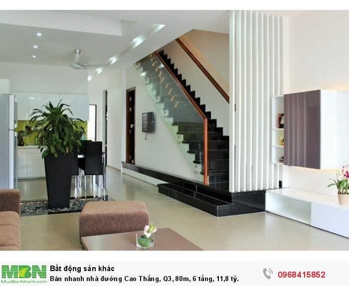 Bán nhanh nhà đường Cao Thắng, Q3, 80m, 6 tầng