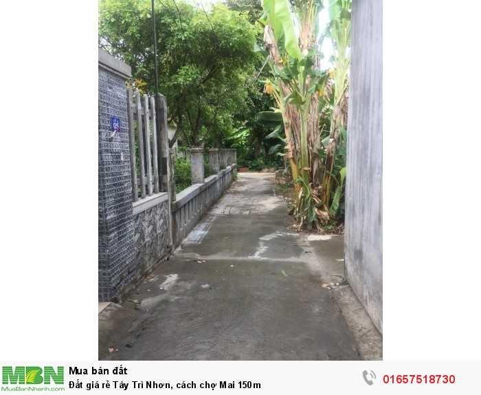 Đất giá rẻ Tây Trì Nhơn, cách chợ Mai 150m