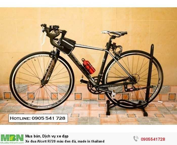 Xe đua Alcott R720 màu đen đà, made in thailand