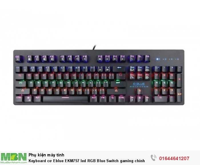 KeyboardcơEblueEKM757led RGB Blue Switch gaming chính hãng2