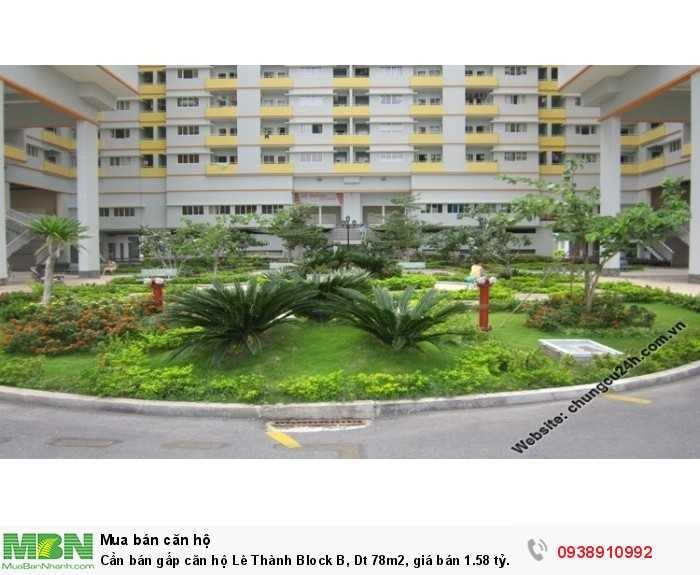 Cần bán gấp căn hộ Lê Thành Block B, Dt 78m2