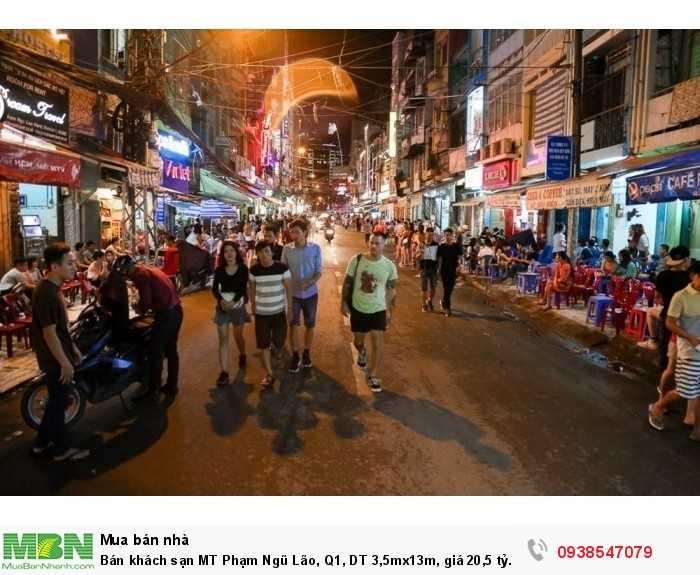 Bán khách sạn MT Phạm Ngũ Lão, Q1, DT 3,5mx13m