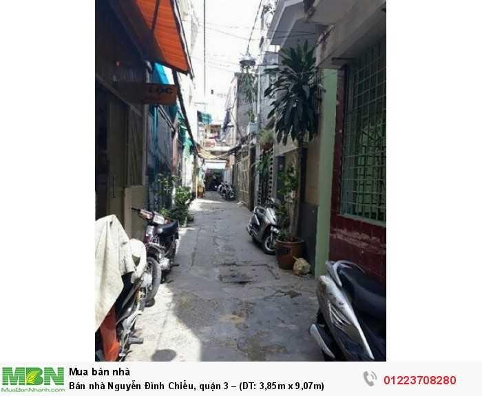 Bán nhà Nguyễn Đình Chiểu, quận 3 – (DT: 3,85m x 9,07m)