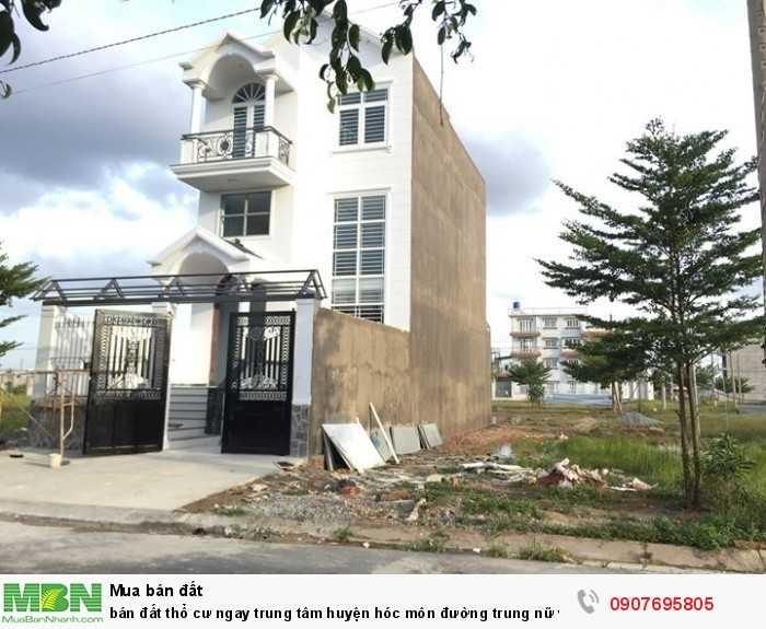 Bán đất thổ cư ngay trung tâm huyện Hóc Môn đường trung nữ vương, dt 80m2 sổ riêng