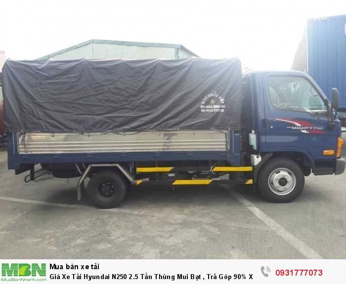 Giá Xe Tải Hyundai N250 2.5 Tấn Thùng Mui Bạt , Trả Góp 90% Xe Giao Ngay 2