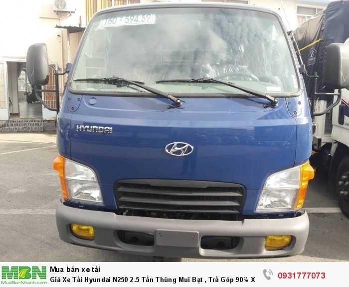 Giá Xe Tải Hyundai N250 2.5 Tấn Thùng Mui Bạt , Trả Góp 90% Xe Giao Ngay 3
