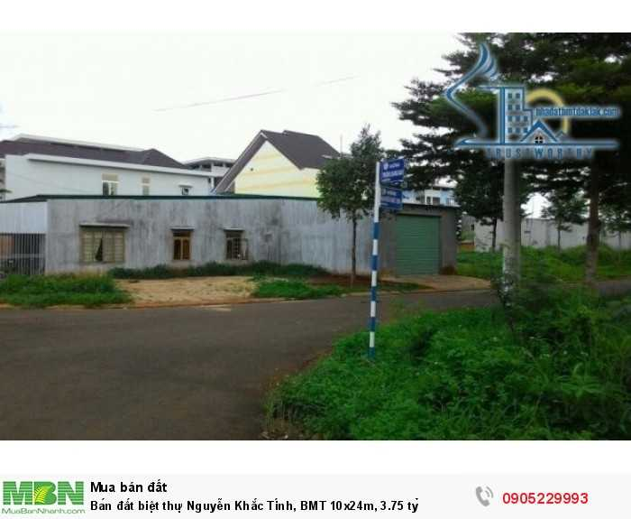 Bán đất biệt thự Nguyễn Khắc Tính, BMT 10x24m