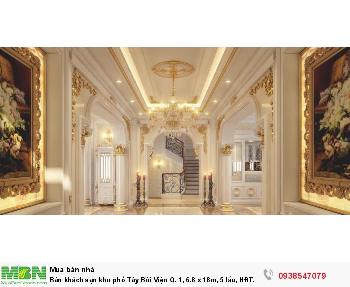 Bán khách sạn khu phố Tây Bùi Viện Q. 1, 6.8 x 18m, 5 lầu, HĐT 250tr/th