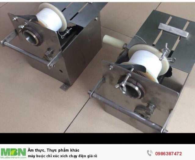 Máy buộc chỉ xúc xích chạy điện giá rẻ