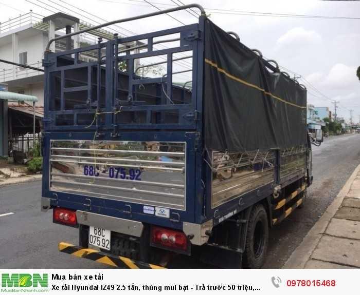Bán xe tải Hyundai IZ49 2.5 tấn, thùng mui bạt - Trả trước 50 triệu, giao xe trong 5 ngày làm việc. - Hotline: 0978015468 (24/24)