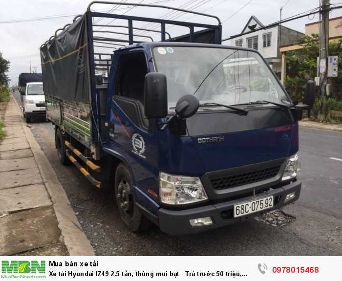 Mua xe tải Hyundai IZ49 2.5 tấn, thùng mui bạt - Trả trước 50 triệu, giao xe trong 5 ngày làm việc. - Hotline: 0978015468 (24/24)