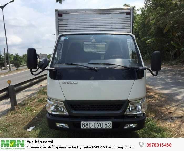 Bán xe tải Hyundai IZ49 2.5 tấn, thùng inox, trả trước 50 triệu, giao xe ngay - Hotline: 0978015468 (24/24)