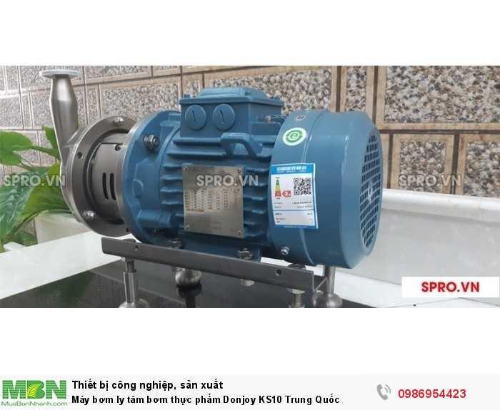 Máy bơm ly tâm bơm thực phẩm Donjoy KS10 Trung Quốc