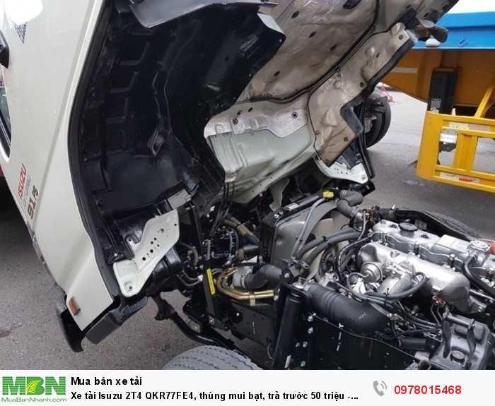 Xe tải Isuzu 2T4 QKR77FE4, thùng mui bạt, trả trước 50 triệu - GIAO XE NGAY 0