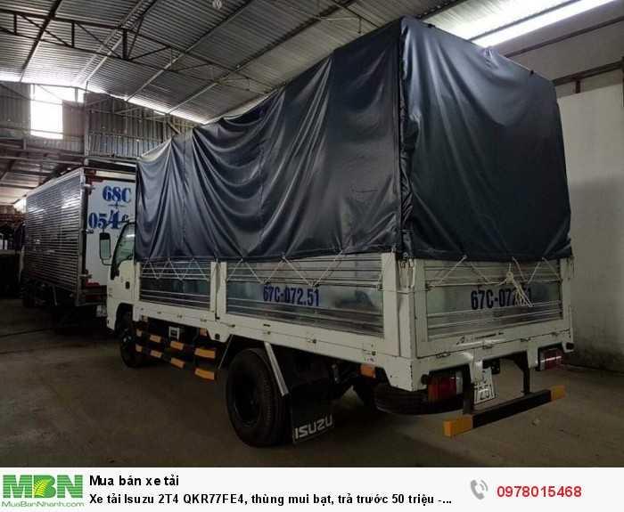 Xe tải Isuzu 2T4 QKR77FE4, thùng mui bạt, trả trước 50 triệu - GIAO XE NGAY 5
