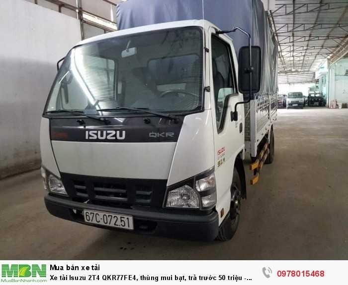 Xe tải Isuzu 2T4 QKR77FE4, thùng mui bạt, trả trước 50 triệu - GIAO XE NGAY 6