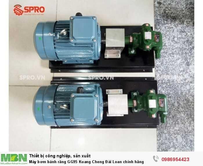 Máy bơm bánh răng GG95 Kuang Cheng Đài Loan chính hãng