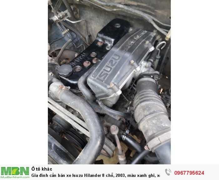 Bán xe Isuzu Hilander 8 chỗ, 2003, màu xanh ghi, xe còn đẹp nguyên bản, cam kết không đâm đụng 7