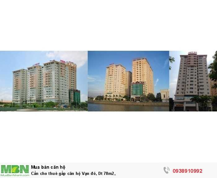 Cần cho thuê gấp căn hộ Vạn Đô, Dt 78m2,
