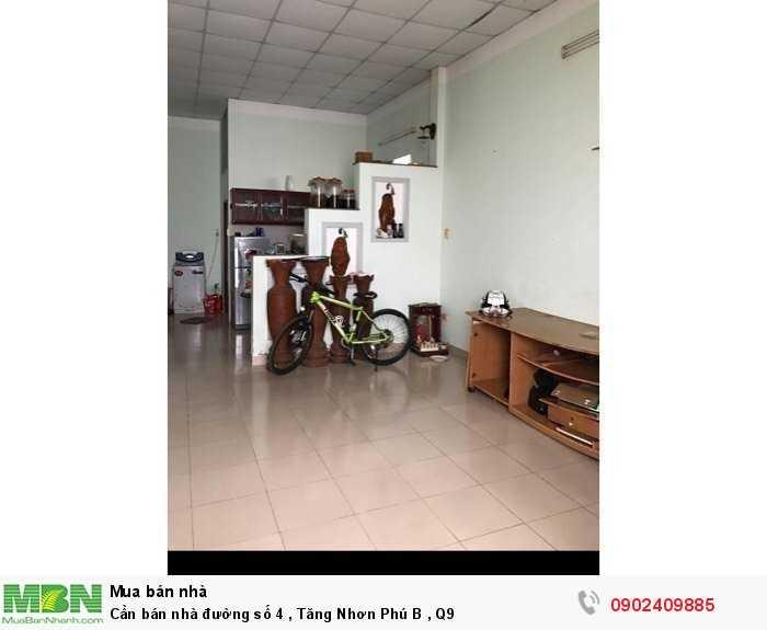 Cần bán nhà đường số 4, Tăng Nhơn Phú B, Q9
