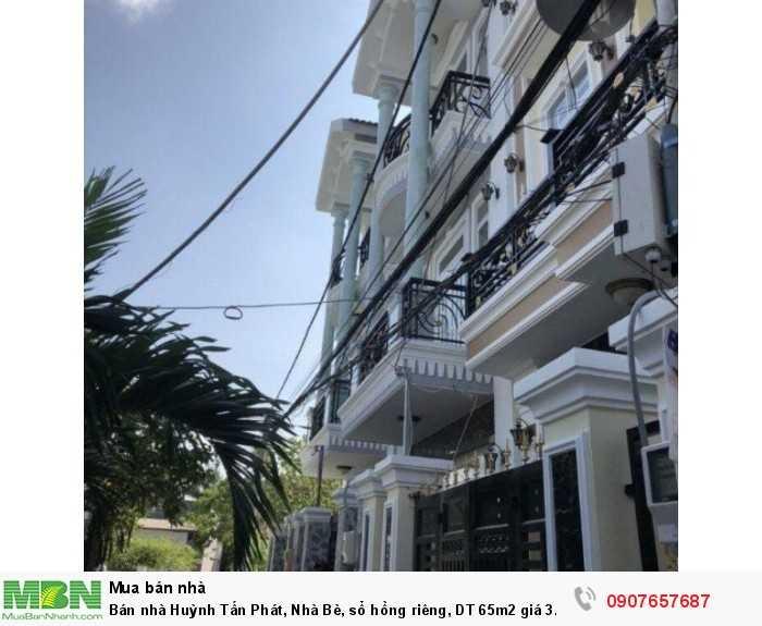 Bán nhà Huỳnh Tấn Phát, Nhà Bè, sổ hồng riêng, DT 65m2 giá 3.15 tỷ