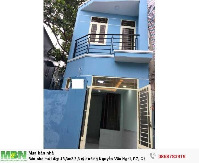 Bán nhà mới đẹp 43,3m2 3,3 tỷ đường Nguyễn Văn Nghi, P.7, Gò Vấp