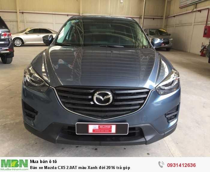 Bán xe Mazda CX5 2.0AT màu Xanh đời 2016 trả góp