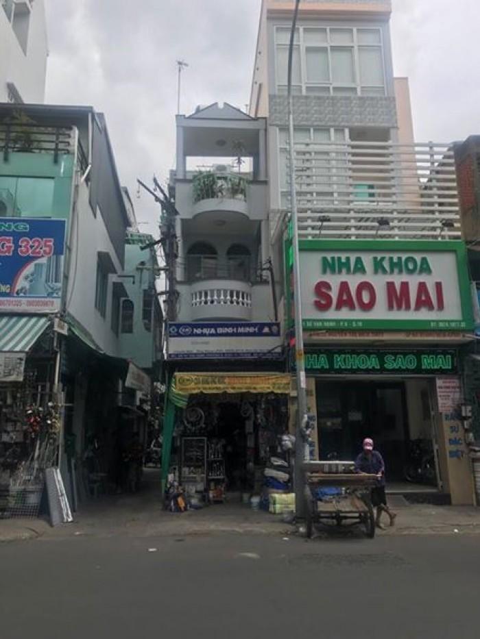 Bán nhà MT CMT8, Q. Tân Bình , Dt: 4x24m, 3 lầu