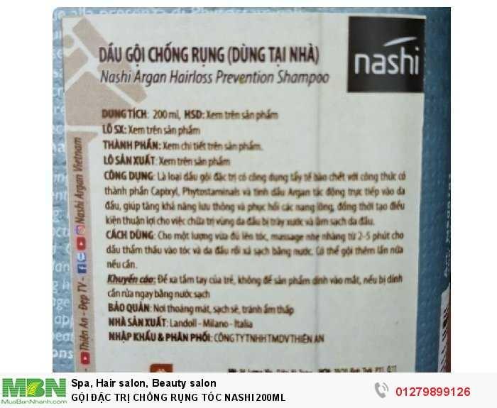 Gội đặc trị chống rụng tóc nashi 200ml2