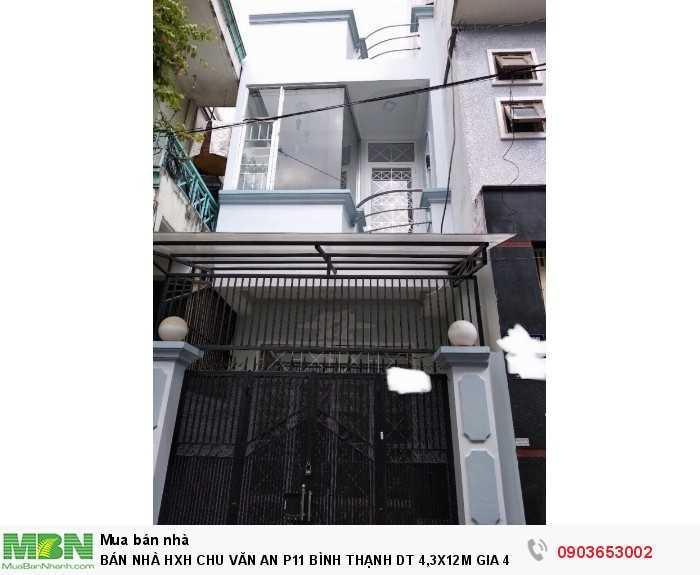 Bán nhà HXH Chu Văn An p11 Bình Thạnh, 1 lầu đúc thật, nhà còn mới, khu an ninh dân trí cao,