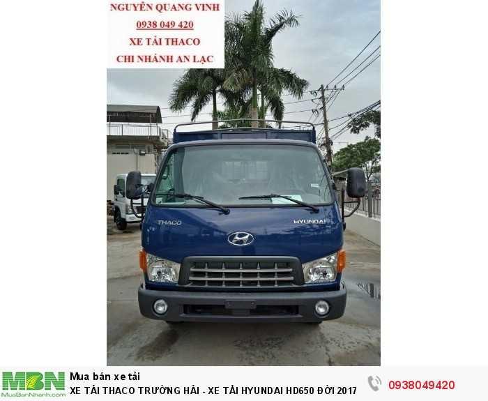 Xe Tải Thaco Trường Hải - Xe Tải Hyundai Hd650 Đời 2017 - Bán Xe Trả Góp